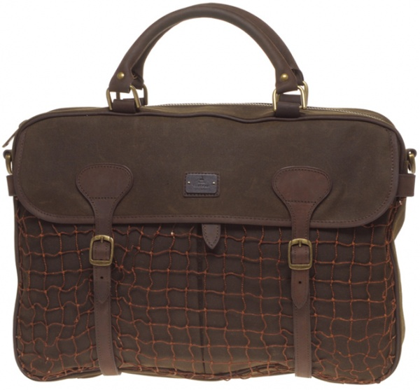 Barbour Country Waxed Cotton Briefcase 1 Barbour Country Waxed Cotton Briefcase