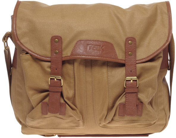 French Connection Waxed Canvas Fishing Bag 1 French Connection Waxed Canvas Fishing Bag