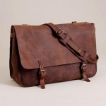 J Crew Artisan Leather Messenger Bag