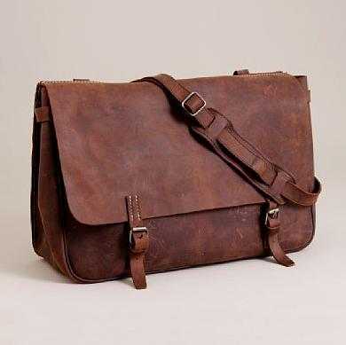 J. Crew Artisan Leather Messenger Bag