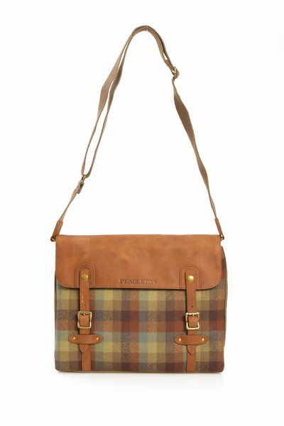 Pendleton Green Brown Messenger Bag 1 Pendleton Green & Brown Messenger Bag