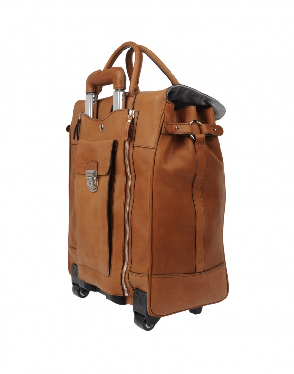 Leather Rolling Backpack