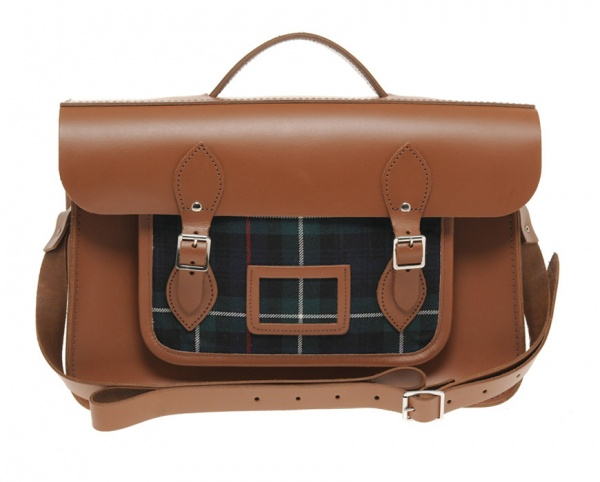 Cambridge Satchel Company Leather Tartan Satchel 01 Cambridge Satchel Company Leather & Tartan Satchel