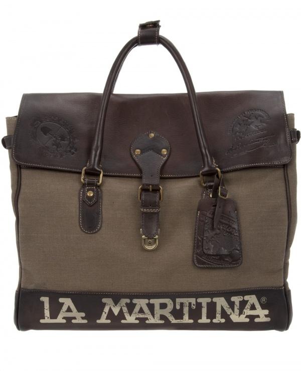La Martina Canvas Leather Holdall 1 La Martina Canvas & Leather Holdall