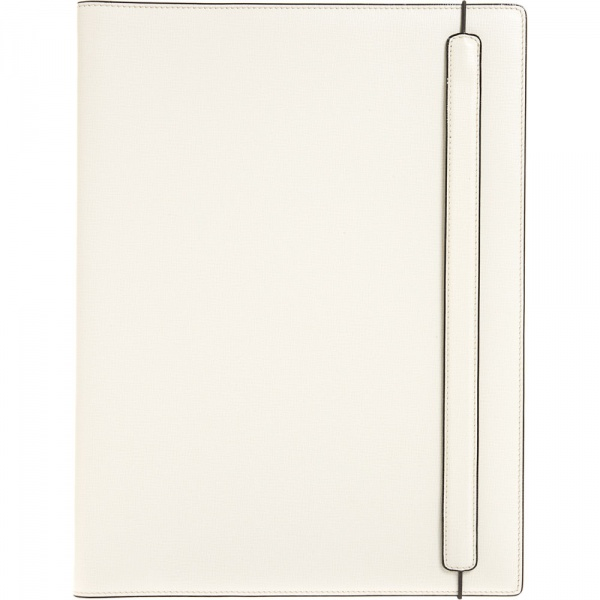 Large White Leather Notepad by Valextra 1 Large White Leather Notepad by Valextra