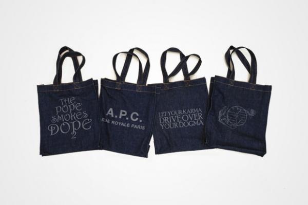 A.P.C. Denim Tote Bags A.P.C. Denim Tote Bags