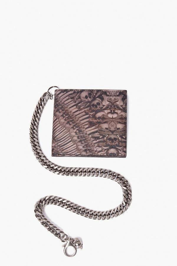 Alexander McQueen Skull Chain Wallet 1 Alexander McQueen Skull Chain Wallet