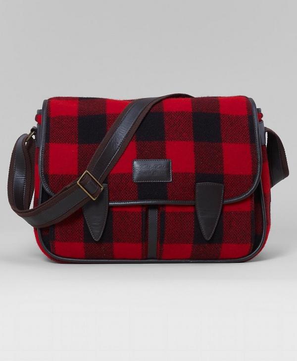 Buffalo Check Messenger Bag by Brooks Brothers 1 Buffalo Check Messenger Bag by Brooks Brothers