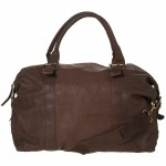 Topman Brown Leather Holdall