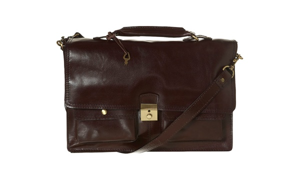 Topman Burgundy Leather Briefcase 1 Topman Burgundy Leather Briefcase