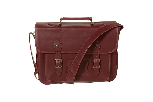 Topman Burgundy School Satchel 1 Topman Burgundy School Satchel