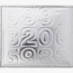 Comme Des Garcons Silver Embossed Wallet
