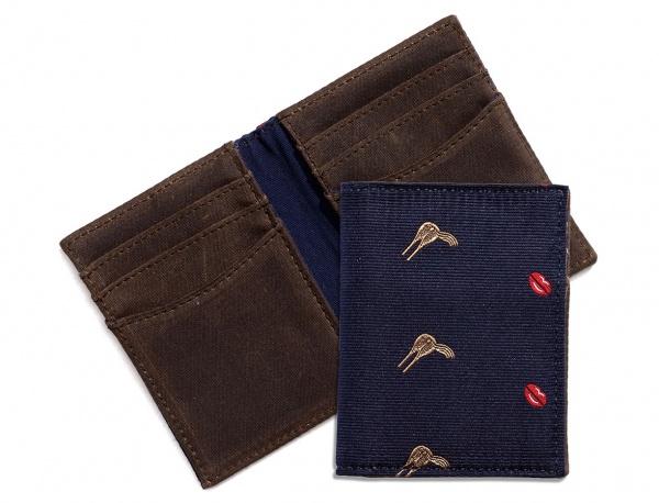 Jack Spade Silk Club Vertical Wallet Jack Spade Silk Club Vertical Wallet