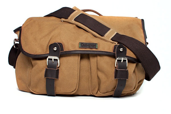 Ossington Greene Cotton Messenger Bag in Khaki 1 Ossington Greene Cotton Messenger Bag in Khaki