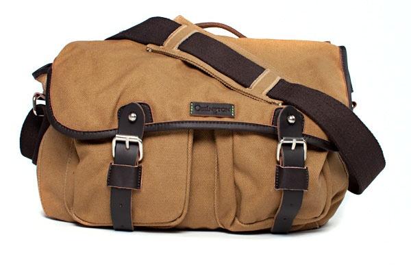 Ossington Greene Cotton Messenger Bag in Khaki 1 Ossington Greene Cotton Messenger Bag in Khaki
