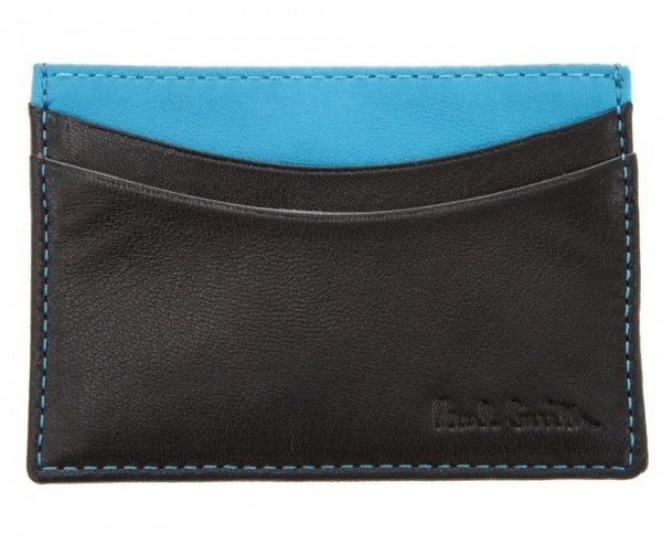 Paul Smith Black and Blue Card Holder01 Paul Smith Black and Blue Card Holder