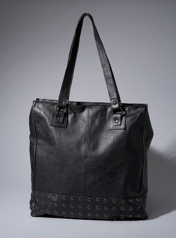 Topman AAA Black Leather Tote Bag Topman AAA Black Leather Tote Bag
