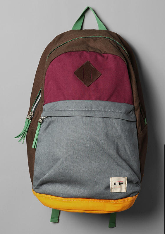 All Son Colour Blocked Backpack All Son Colorblock Backpack