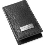 Salvatore Ferragamo Stamped Calf Magnetic Money Clip