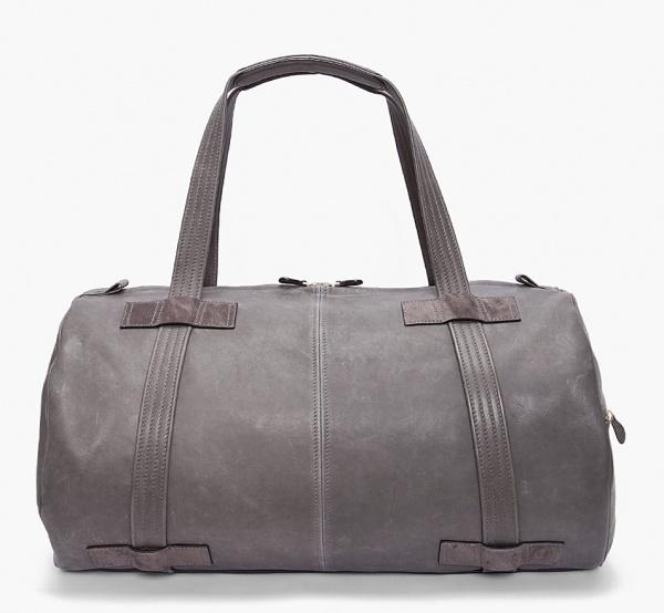 Alexander McQueen Duffel Bag01 Alexander McQueen Grey Leather Duffel Bag