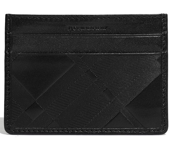Burberry Embossed Credit Card Case Burberry Embossed Credit Card Case
