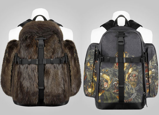 Givenchy Fall   Winter 2011 Fur Dog Print Backpacks01 Givenchy Fall / Winter 2011 Fur & Dog Print Backpacks