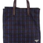 Prada Checked Shopper