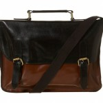Topman Leather 2 Colour Satchel