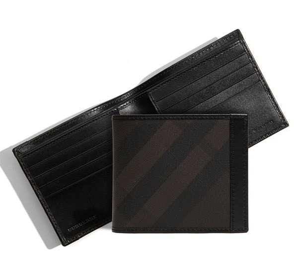 Burberry Check Print Bifold Wallet  Burberry Check Print Bifold Wallet