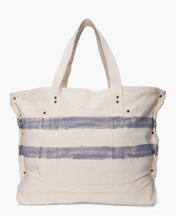 Shades of Grey 'Waves' Canvas Beach Tote | The Carry