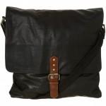 Topman Black Leather Stud Satchel