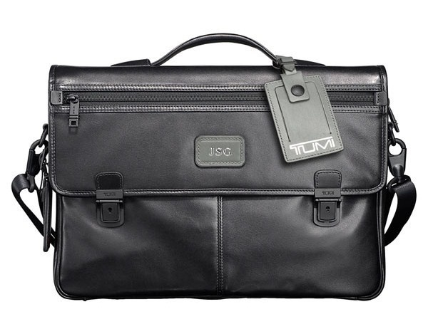 Tumi Alpha Slim Leather Briefcase Tumi Alpha Slim Leather Briefcase