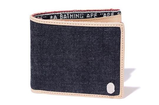 bape denim wallet Bape Denim Wallet