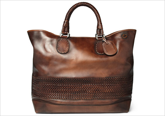gucci woven holdall bag 1 Gucci Woven Leather Holdall