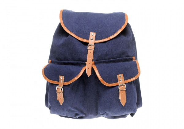 Reclaimed Vintage Canvas Backpack in Navy Reclaimed Vintage Canvas Backpack in Navy