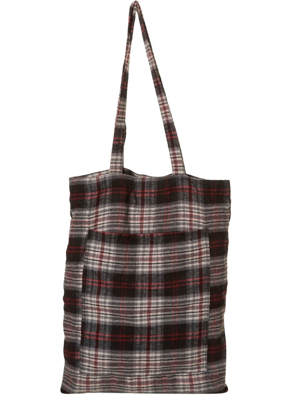 Red and Black Plaid Shopper Bag Red and Black Plaid Shopper Bag