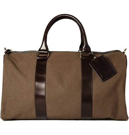 APC Canvas and Leather Travel Bag1 A.P.C. Canvas & Leather Travel Bag