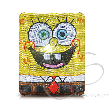 Spongebob Crystallized Swarovski iPad Case Swarovski Crystal Spongebob iPad Case