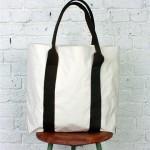 Albam SS2011 Tote3 150x150 Albam Ecro & Olive Canvas Tote Bag
