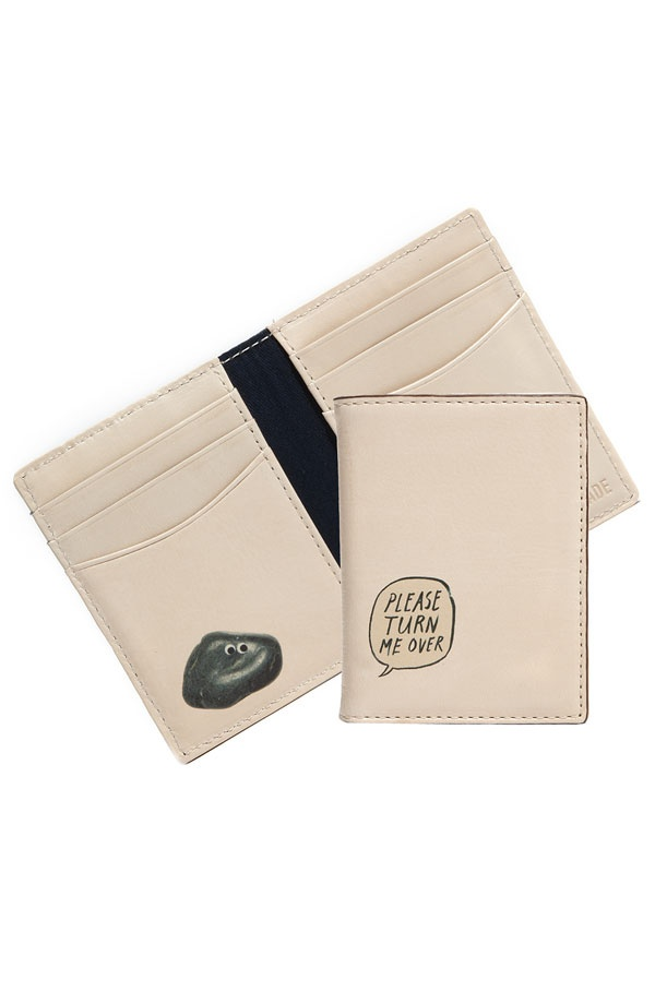 Jack Spade Pet Rock Jack Spade Pet Rock Vertical Leather Wallet