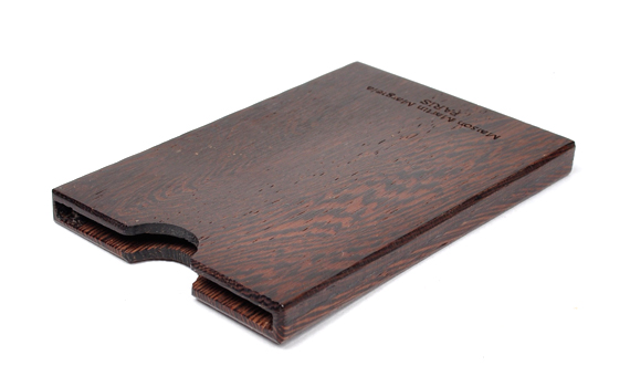 Maison Martin Margiela 11 Dark Wood Card Holder Maison Martin Margiela Wooden Card Case