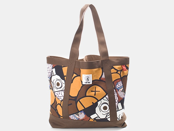 Originla Fake BAPE Tote Original Fake For BAPE Kaws Milo Tote Bag