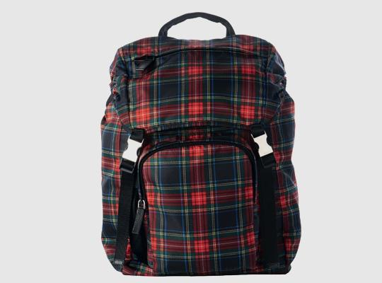 prada tartan backpack 0 Prada Tartan Backpack 2011