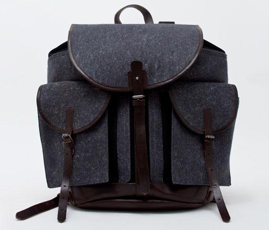 dries van noten backpack 1 Dries Van Noten Wool & Leather Backpack
