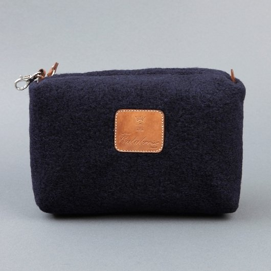 Calabrese Boiled Wool Wash Bag