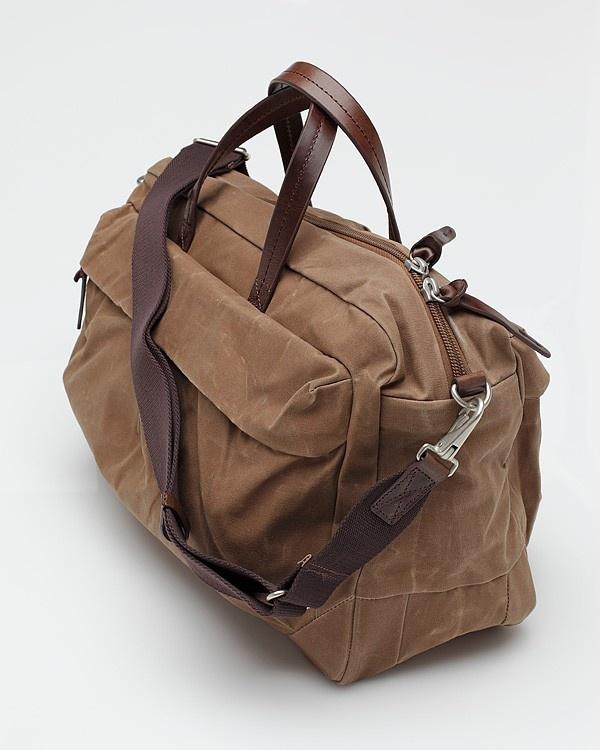 Waxed Cotton Shoulder Bag 60