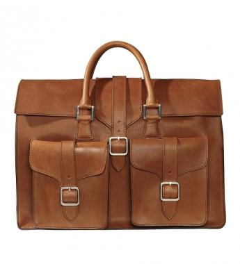 9550 00103 l p1 Brunello Cucinelli Cognac Briefcase