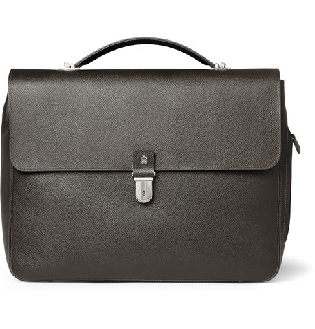 173173 mrp in l Dunhill Bourdon Textured Leather Briefcase