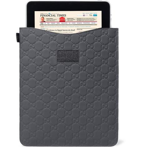 175976 mrp e1 l Gucci Rubberized Leather iPad Sleeve