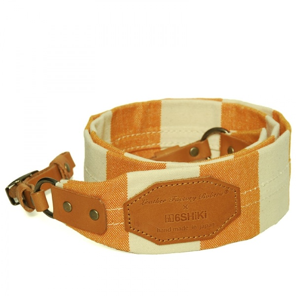 9 11 2011 roberu canvascamerastrap orange large Roberu Orange Canvas Camera Strap